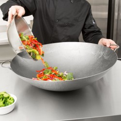 """24"""" Large Curved Wok - Cantonese Style - Stiry Fry Pan"""
