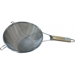 "7""-12.5"" Steel Strainer Mesh - Wire Skimmer - Professional Grade Handle"