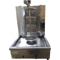 GB800-3 Burner Automatic Vertical Broiler - Trompo Shawarma Gyro Machine Tacos Pastor - Electric & Gas