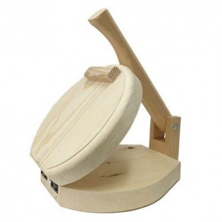 "7""-11"" Round Wooden Tortilla Press - Torilladora - Tortilla Flatbread Roti Maker"