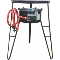"""28"""" Tripod Wind Shield Stand for Stove with Burner & Hose"""