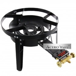 AW4801-High Flame Outdoor Stove Cooker w/ Stand - Propane Gas Single Burner - Heavy Duty Cast Iron Portable Camp Outdoor Stove