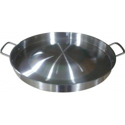 "AW2105- 22"" Stainless Steel Comal - Wok - Round Convex Griddle"