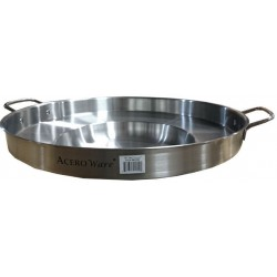 "22"" Stainless Steel Comal - Wok - Round Concave Griddle"