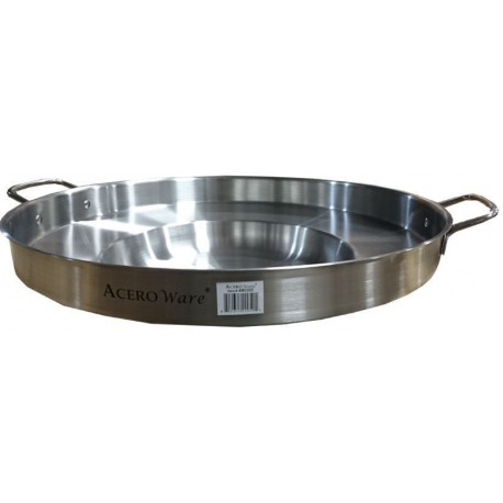 """22"""" Stainless Steel Comal - Wok - Round Concave Griddle"""