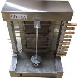 GB25A-2 Burner Automatic Vertical Broiler - Trompo Shawarma Gyro Machine Tacos Pastor - Electric & Gas